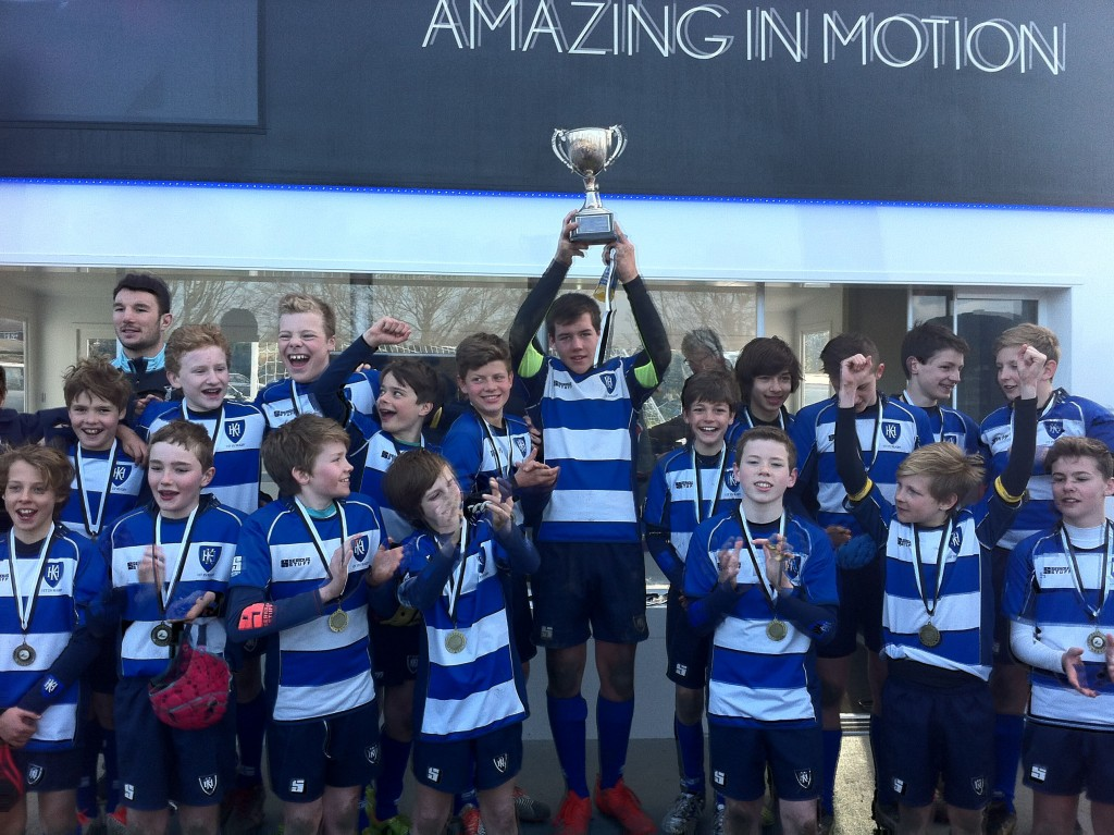 King's House School 1st XV – winners of Prep Schools Nationals Rugby Championships 2015
